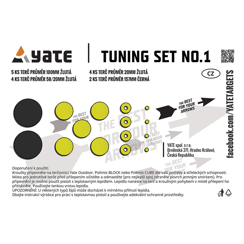 YATE Terčovnice TUNING SET No.1  20 - 150 mm